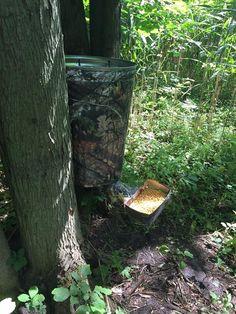 b6c83cfe845a9 DIY Camo Deer Feeder using a garbage can and Mossy Oak Graphics camo vinyl  rolls Deer