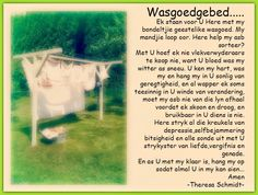 Afrikaanse Inspirerende Gedagtes & Wyshede: Wasgoed gebed