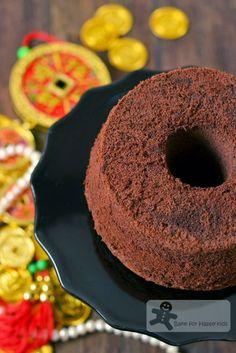 A Very Moist Chocolate Chiffon Cake - Japanese Dark Pearl Chiffon Cake