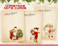 Christmas Note cards Greeting cards Printable download by FrezeArt, $3.10