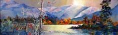 Winter Similkameen @ Keremeos - 8 x 24 - Acrylic