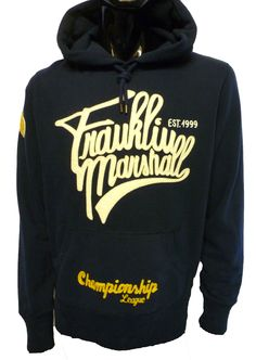 FLMR198W12 Applique Logo Hoody by Franklin & Marshall.  Available at http://www.apacheonline.co.uk