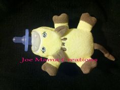 Giraffe Pacifier Baby by JoeMamaCreations on Etsy, $10.00