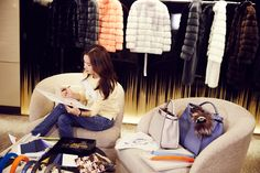 Ko So-young designing her special edition bag for the Fendi Seoul Peekaboo Project