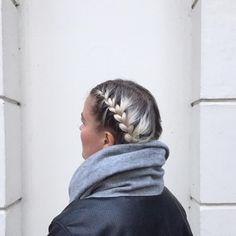 Platinum blonde regrowth Braids