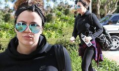 Khloe Kardashian looks slimmer than ever as she heads to the gym