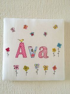 Personalised Name Textile Wall Art