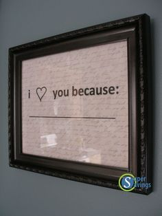 I'm going to put it up in the bathroom and tell him (and/or have him tell me) every day. Just need a whiteboard pen!