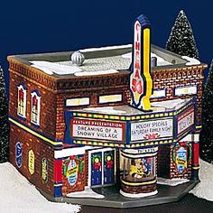 """Department 56: Products - """"Cinema 56"""" - View Lighted Buildings"""