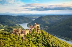 Aggstein – ruined castle on the  bank of the Danube. #castle #austria #travel #europe #daytrip