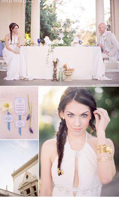 Greco Roman beautifully styled wedding photo shoot..