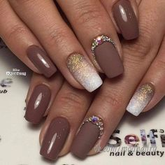 Semi-permanent varnish, false nails, patches: which manicure to choose? - My Nails Brown Nail Art, Brown Nails, Gel Nail Designs, Cute Nail Designs, Nails Design, Brown Nail Designs, Design Design, Design Ideas, Trendy Nails