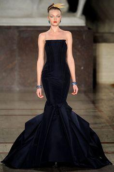 Midnight Drama Zac Posen Fall 2012 RTW, #women's apparel, #dresses