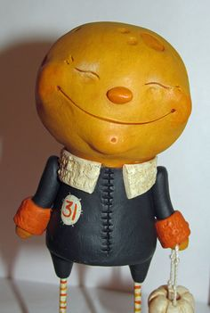 Halloween Moon Man 31 signed original by Janell by JanellBerryman, $115.00