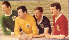May Leicester City players Derek Dougan, Gordon Banks, David Gibson, Peter Rodrigues wear their international colours prior for a photo shoot to promote their FA Cup Final against Tottenham Hotspur. David Gibson, Gordon Banks, Leicester City Fc, Class Games, Fa Cup Final, Tottenham Hotspur, Above And Beyond, Northern Ireland, Football Team