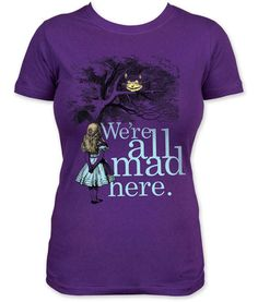"""This Alice in Wonderland T-Shirt is Perfect for a Mad Tea Party trendhunter.com for more madness click """"like"""" at https://m.facebook.com/mad4alice"""
