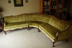 Vintage sectional sofa from the in French Provincial style Ikea Sectional, Sectional Sofa With Recliner, Sofa Couch, Reclining Sectional, House Paint Interior, Cafe Interior, Best Interior, Pottery Barn Sofa, Couches For Small Spaces