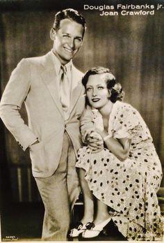 Newlweds Doug Jr and wife, Joan Crawford. via Silents Please fb page
