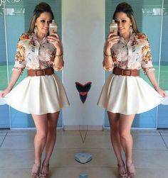 Camisa Floral, Prom Dresses, Formal Dresses, Online Boutiques, Skater Skirt, Html, Skirts, Google, Fashion