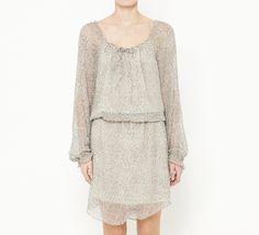 Haute Hippie Grey And Metallic Dress
