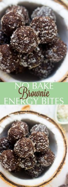 These No Bake Brownie Energy Bites are made with only 5 ingredients, vegan and gluten-free and are a perfect quick healthy breakfast or snack! via jessicainthekitchen.com
