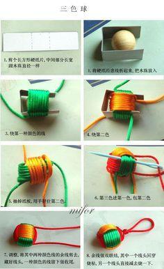 DIY: Yarn key chain
