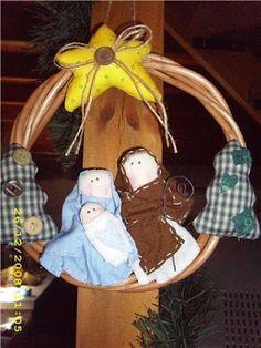 Tudo Junto e Misturado: Guirlanda de Natal em Feltro