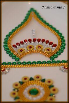 Floor Art-Multi Color Kundan by ManoramasJewellery on Etsy Indian Embroidery Designs, Bead Embroidery Patterns, Beaded Embroidery, Colored Sand, Colored Rice, Diya Rangoli, Crochet Flower Scarf, Acrylic Rangoli, Rangoli Designs Flower