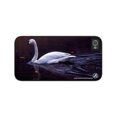 "Airstrike® Swan iPhone 5 Case, Swan iPhone 5s Case, Swan iPhone Case Protective Swan Phone Case ""Reflection of Light"" 50-8256"