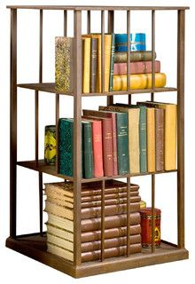 Wright Turning Bookcase - traditional - bookcases cabinets and computer armoires - by BoBo Intriguing Objects