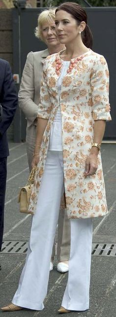 Princess Mary of Denmark in chic maternity pants outfit.