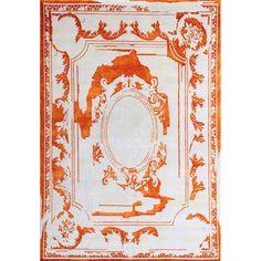 Ковер бело-оранжевого цвета Фонтене Fontenay New Age Tangerine