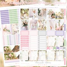 Planner Onelove: Free Pink & lilac, Romantic Bloom Printable Planner Stickers for EC & Recollections Planner Bloom Planner, Free Planner, Planner Pages, Happy Planner, Filofax, Planner Layout, Planner Ideas, Washi Tape Planner, Printable Planner Stickers