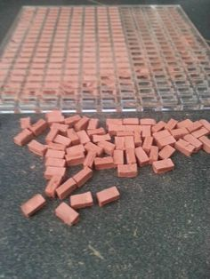 Terrain Mold: Small Bricks – Death Ray Designs – Tabletop, Miniatures, Gaming Terrain, & Accessories - Hobbies paining body for kids and adult Miniature Crafts, Miniature Houses, Barbie Furniture, Dollhouse Furniture, Diy Dollhouse, Dollhouse Miniatures, Flagstone Tile, Brick Molding, Vitrine Miniature