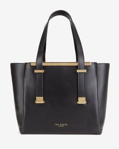 Leather shopper bag - Black | Bags | Ted Baker UK Clothing, Shoes & Jewelry : Women : Handbags & Wallets : Women's Handbags & Wallets hhttp://amzn.to/2lIKw3n