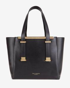 Leather shopper bag - Black | Bags | Ted Baker UK