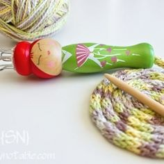 Learn how to use these French Knitting Dolls. Perfect for many projects! I remember doing this as a kid..