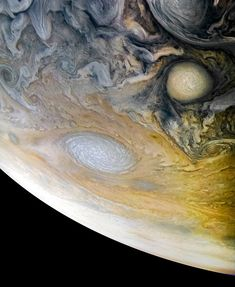 "astronomyblog: "" See intricate cloud patterns in the northern hemisphere of Jupiter in this new view taken by NASA's Juno spacecraft. The color-enhanced image was taken on April 1 at 2:32 a.m. PST..."