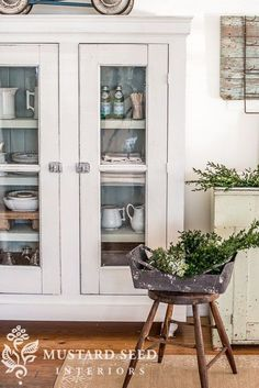 """Share A few months ago, Jeff and I made a cupboard around a pair of reclaimed doors Ibought at an antique market for $40. They hung in my dining room for a few years, but I always though they would be perfect in a custom-built cabinet. The full tutorial will be available on http://HGTV.com at some pointand I will link to it when it is. I must admit, this cabinet gave me the """"building bug"""" and now I'm ready to do a lot more designing and building. Y"""