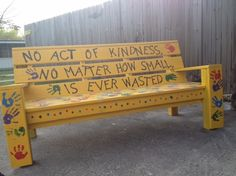 buddy bench -someone needs a friend, sit on bench sign to other children child looking for a friend to play with
