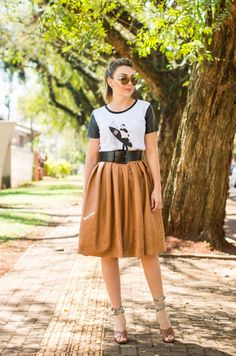 MEU LOOK| Midi and TShirt