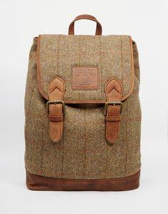 British Belt Company X Harris Tweed Backpack