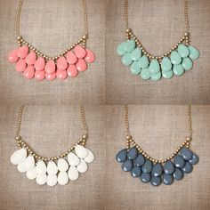 Coral Briolette necklace from Urban Peach Boutique!