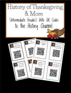 Have your intermediate students check out these fun facts from the History Channel. This is one time you'll want them to pull out their smart devices, scan the QR codes, the watch and summarize. Or, place the QR codes around the room at various stations - students rotate around to each and discuss with their groups afterwards.