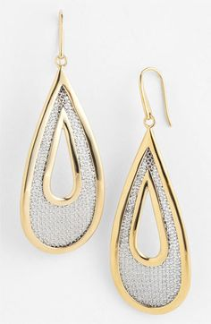 Adami & Martucci 'Mesh' Large Open Teardrop Earrings (Nordstrom Exclusive) available at #Nordstrom
