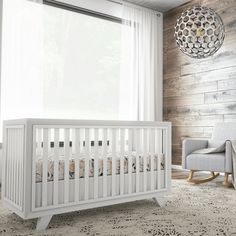 Experience the beautiful, chic Project Nursery Wooster crib in Pure White. This white wood crib features an eco-friendly design and solid wooden construction.