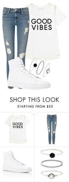 """good vibes"" by sixbhanannberry ❤ liked on Polyvore featuring Tommy Hilfiger, Frame Denim, Common Projects and Accessorize"
