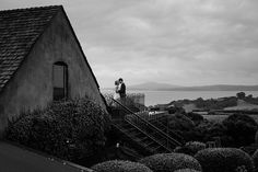 Romantic black and white wedding portrait | Mudbrick Vineyard & Restaurant, Waiheke Island, New Zealand