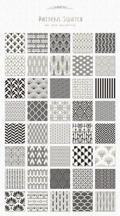 Pattern design art deco seamless patterns bundle by jessika on creative market – design Boho Pattern, Pattern Art, Pattern Design Drawing, Geometric Pattern Design, Geometric Designs, Motif Art Deco, Art Deco Design, Art Designs, Design Design
