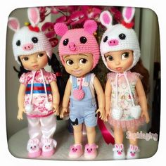 004Crochet Hat and Shoe for Disney's Animator Doll por DollsCafe